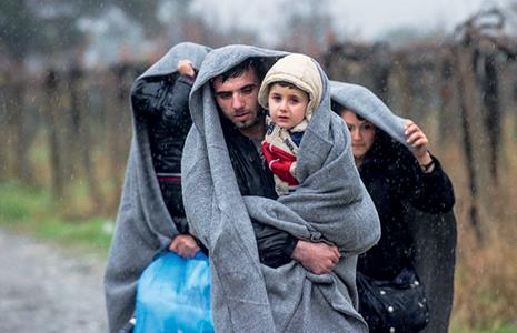 Macédoine, 27novembre 2015, des migrants après le passage de la frontière grecque © Robert Atanasovski AFP