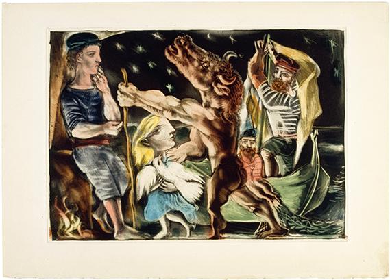 Minotaure aveugle guidé par une fillette dans la nuit, Pablo Picasso, 1934-1935© RMN-Grand Palais (musée Picasso de Paris) / Jean-Gilles Berizzi © Succession Picasso 2016