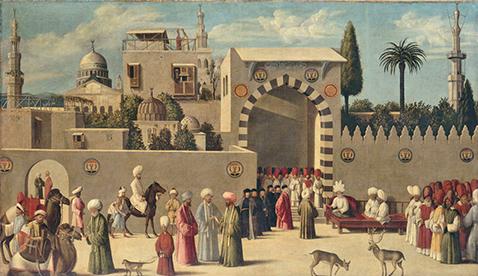 Audience d'une ambassade vénitienne à Damas, Giovanni di Niccolò Mansueti, vers 1511 © RMN-Grand Palais (musée du Louvre) / Thierry Le Mage
