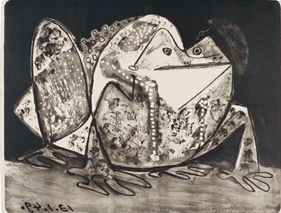 Le Crapaud, par Pablo Picasso (1881-1973) ©CRMN-Grand Palais (musée Picasso de Paris) / Thierry Le Mage©Succession Picasso 2015