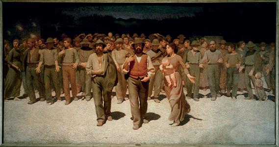 Le Quart État, 1901, Giuseppe Pellizza DaVolpedo (1868-1907)© Archives Alinari, Florence, Dist. RMN-Grand Palais / Mauro Magliani