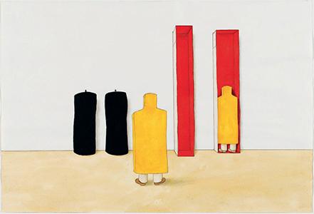 Plastische Rede (Discours plastique),  Franz Erhard Walther, 1983 © Centre Pompidou, MNAM-CCI, Dist. RMN-Grand Palais / image Centre Pompidou, MNAM-CCI © ADAGP, Paris 2015