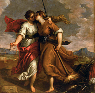 La Justice et la Paix, Palma le Jeune (1544-1628) © Archives Alinari, Florence, Dist. RMN-Grand Palais / Mauro Magliani