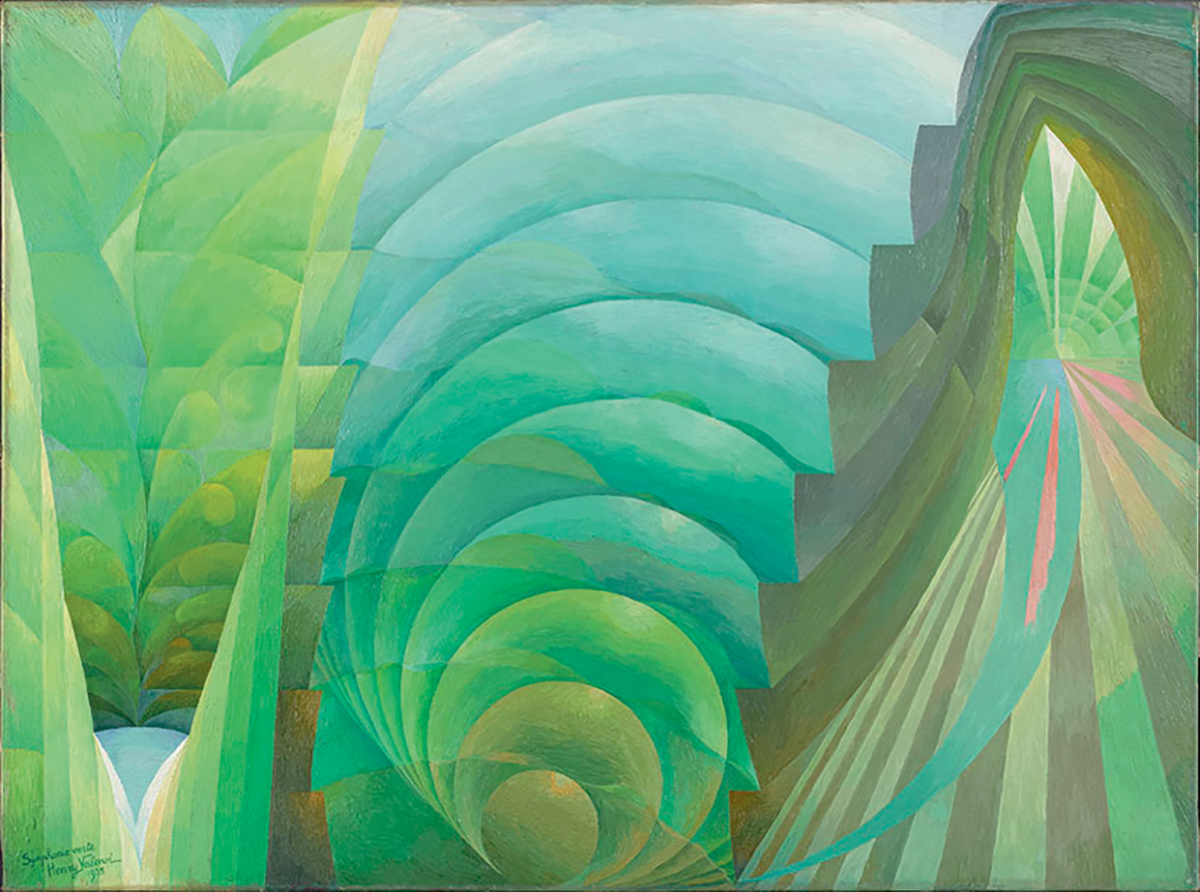 Henry Valensi, Symphonie verte, 1935 ©ADAGP, Paris 2019 ©Centre Pompidou, MNAM-CCI, Dist. RMN-Grand Palais / Bertrand Prévost