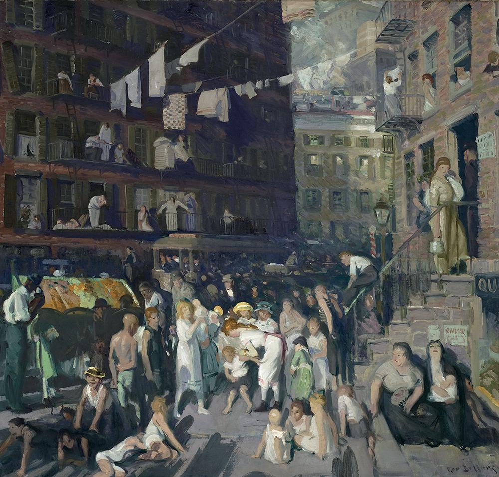 Cliff Dwellers (habitants des gratte-ciel), George Bellows, 1913 © 2017 Museum Associates / Lacma. Licenciée par Dist. RMN-Grand Palais / image Lacma