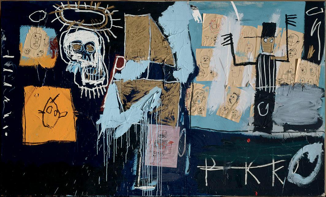 Jean-Michel Basquiat, SlaveAuction (Marché aux esclaves), 1982 ©Centre Pompidou, Mnam-Cci, Dist. Rmn-Grand Palais/ Philippe Migeat ©Adagp, Paris 2018