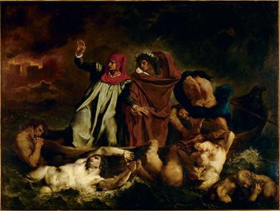 Dante et Virgile aux enfers, dit aussi La Barque de Dante, Eugène Delacroix, 1822 © RMN-Grand Palais (musée du Louvre) / DR