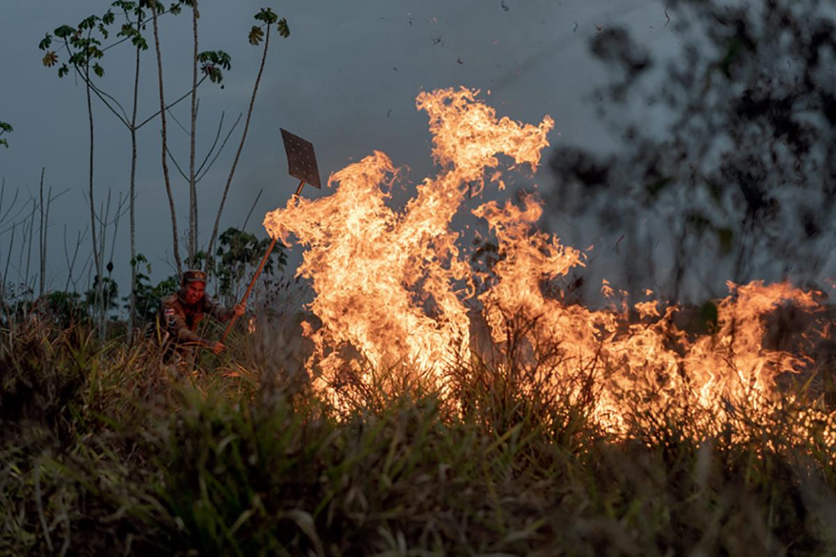 Feu de forêt en Amazonie, Brésil, septembre2019 ©Eyevine Guardian News/ABC/Andia.fr
