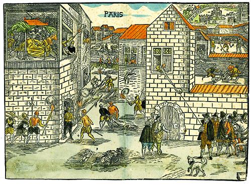 Massacre de la Saint-Barthélemy, estampe du xvie siècle© SHPF, Paris