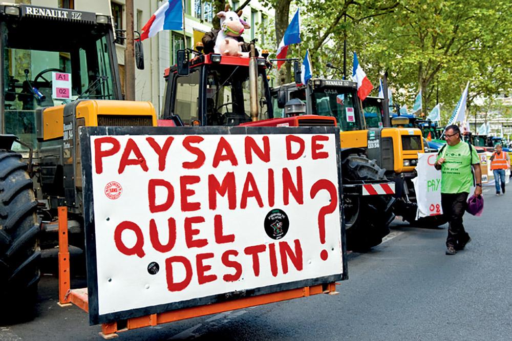 Manifestation d'agriculteurs à Paris, septembre 2015 ©Xavier Testelin/ Rapho
