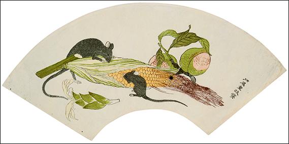 Éventail dessiné par Kitao Shigemasa© Christie's Images/Corbis