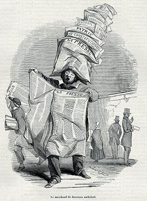 Le Marchand de journaux ambulant, 1848 ©Collection Kharbine-Tapabor