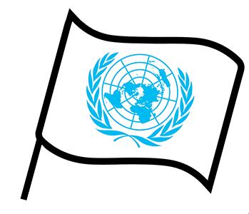 Le drapeau de l'ONU