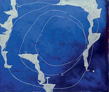Tableau de Richard Texier,<i>L'Approche de la route</i>