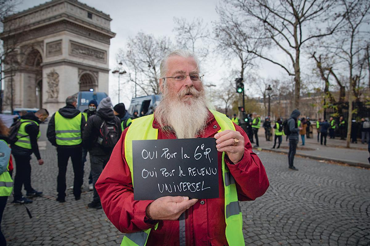 Portrait d'un Gilet jaune, Paris, 8 décembre 2018 ©Alexis Sciard/ IP3