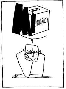 Le vote en récession