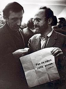 Pol Bury et Pierre Alechinsky, 1969,  photo d'André Morain