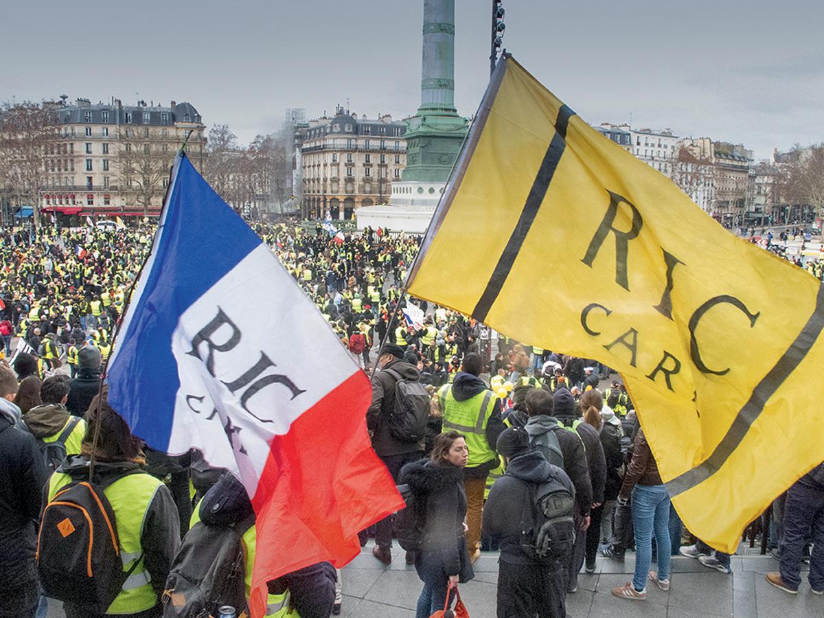 Manifestation des Gilets jaunes, le12janvier 2019, place de la Bastille à Paris  ©Daniel Thierry / Photononstop