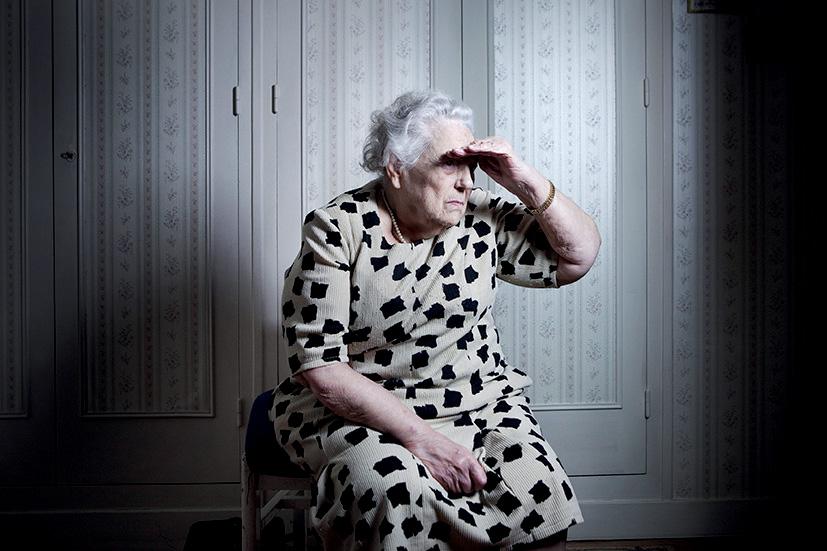 Margaux Rivière, retraitée, 26 décembre 2011 ©Ludovic LeCouster / Pink / saif images