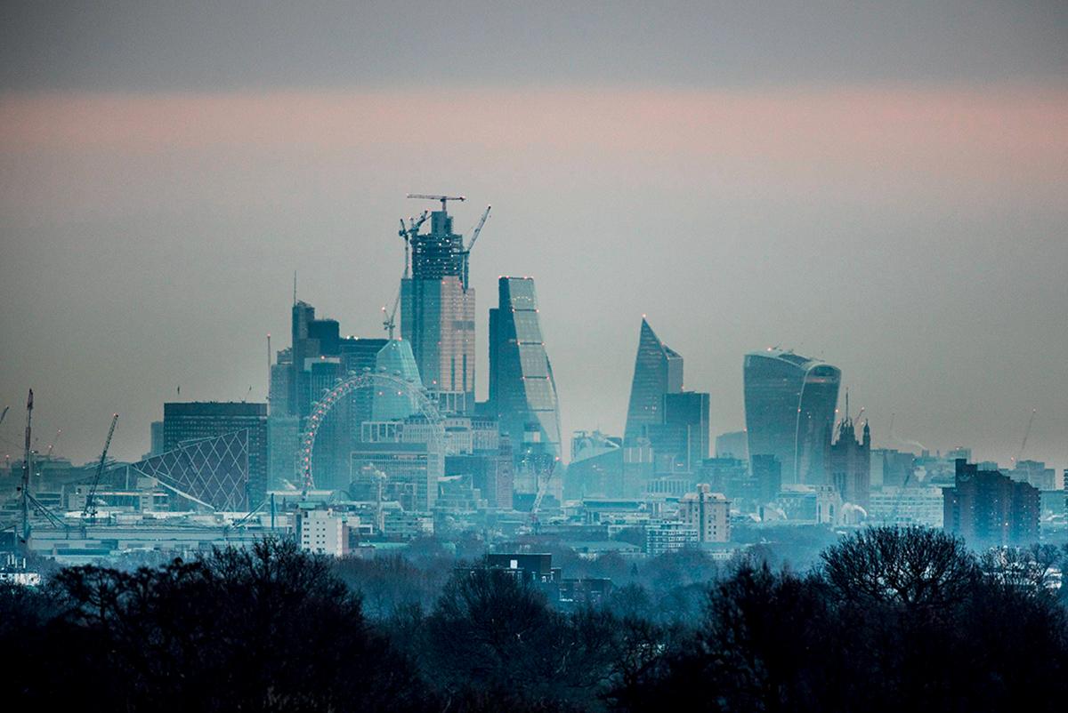 Vue de la City de Londres, 18 janvier 2019 ©Peter MacDiarmid/ REX/ Shutterstock/ SIPA