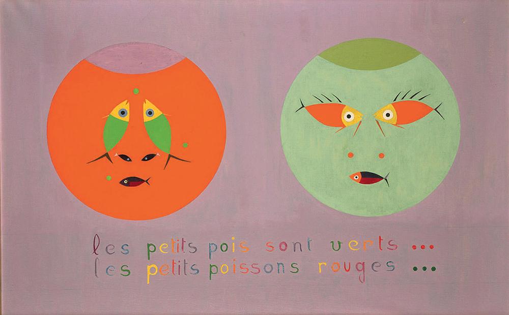 Les petits pois sont verts… les petits poissons rouges… Yves Laloy (1920-1999) © MBA, Rennes, Distr. RMN-Grand Palais /Patrick Merret © ADAGP, Paris 2017