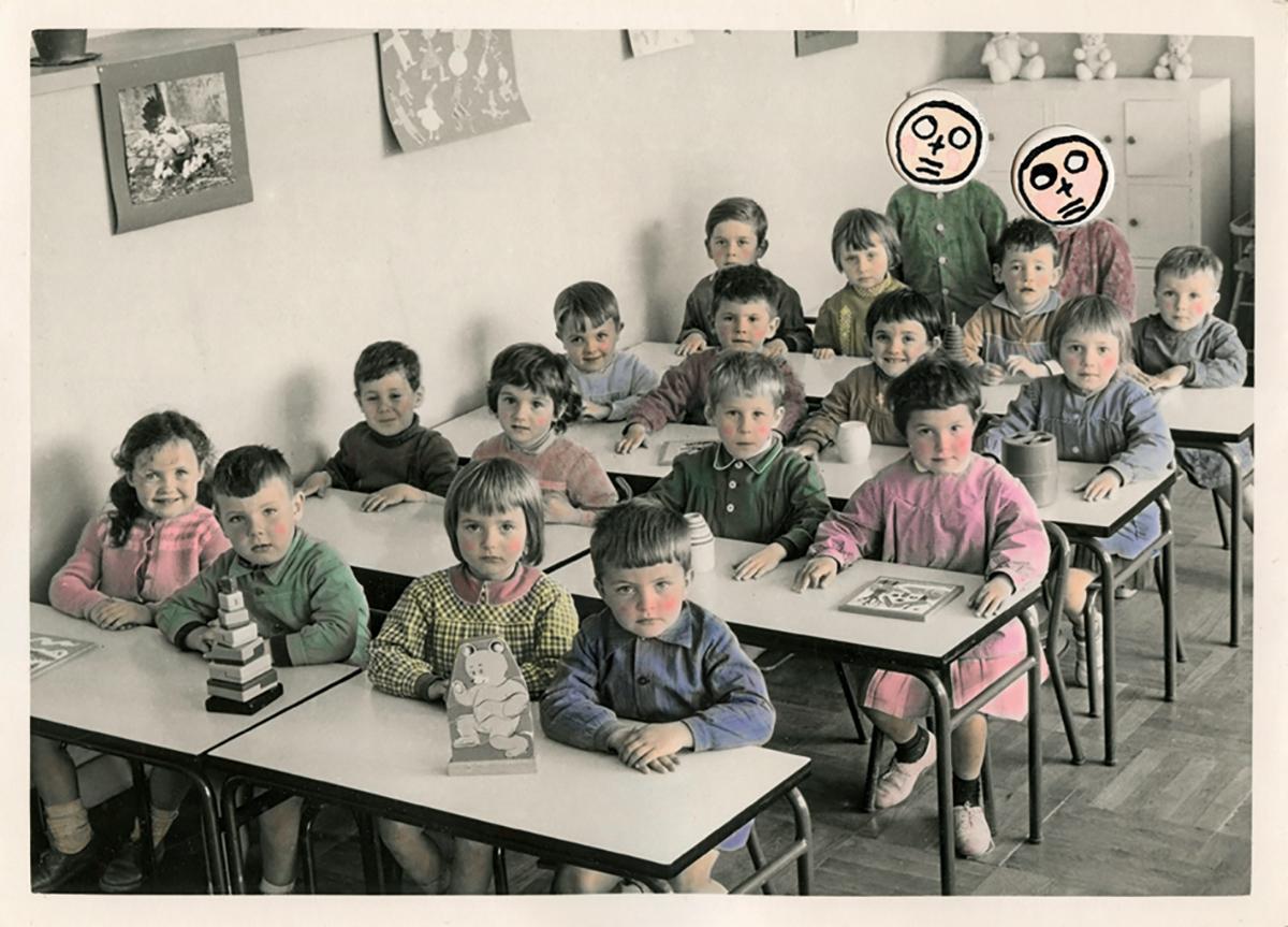Les cancres desannées1950, photomontage © Sylvain Granjon/ VOZ'Image