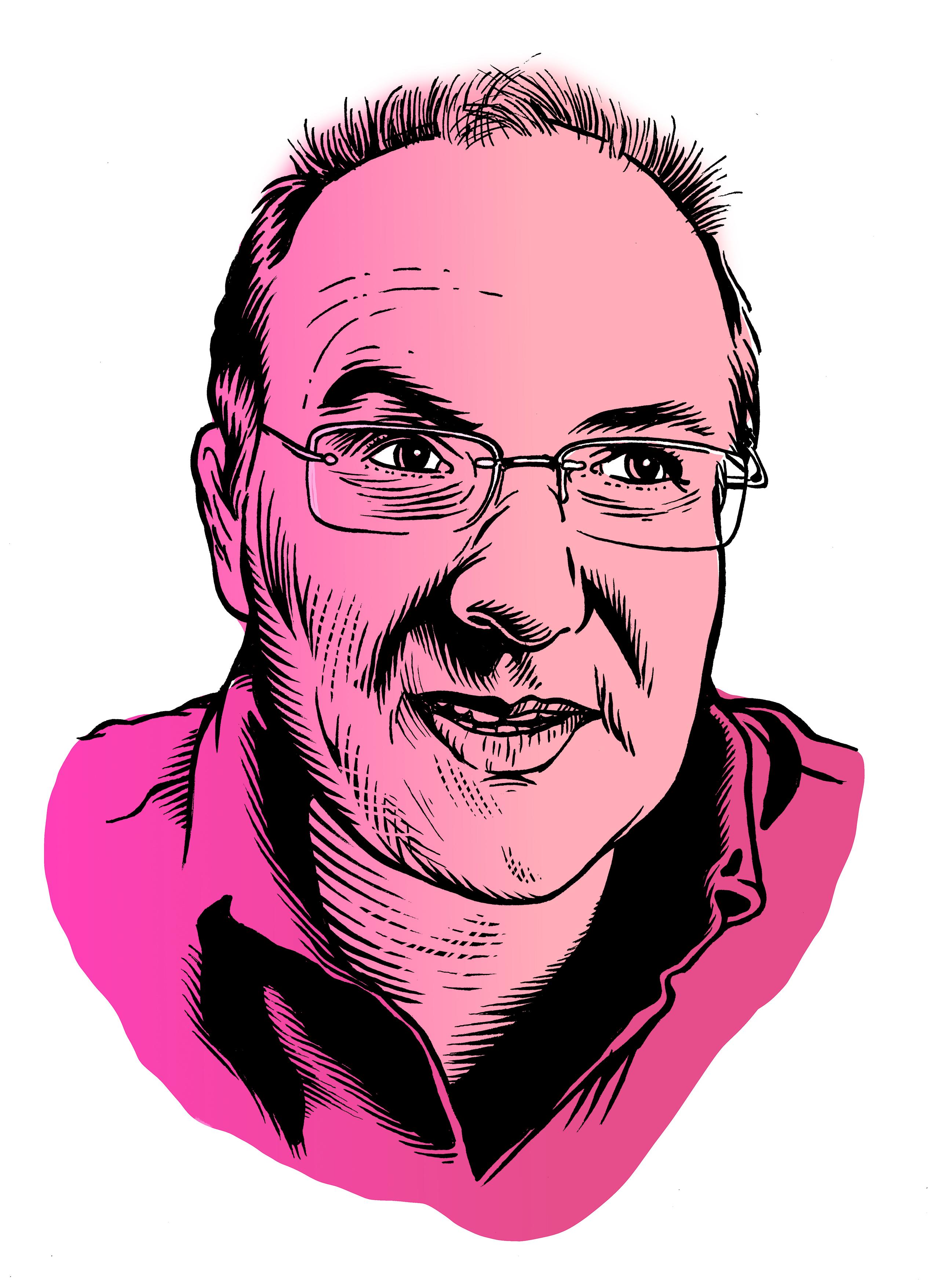les auteurs du 1 : Alain Damasio