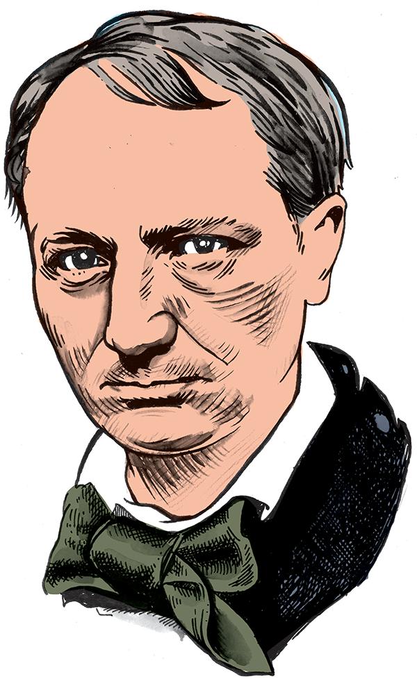 les auteurs du 1 : Charles Baudelaire