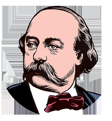 les auteurs du 1 : Gustave Flaubert