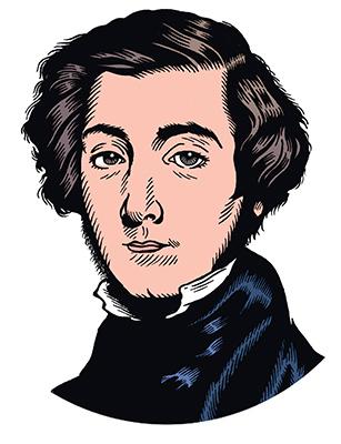 les auteurs du 1 : Alexis de Tocqueville
