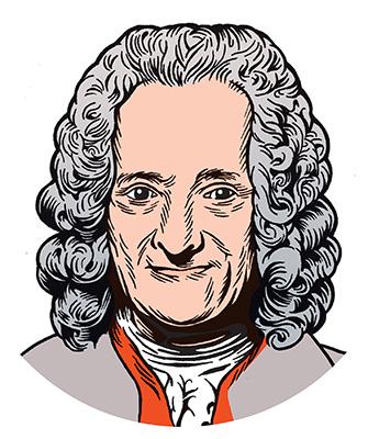 les auteurs du 1 :  Voltaire